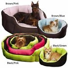 Slumber Pet Dimple Plush Reversible Nesting Dog Pet Bed Soft & Cuddly 4 Colors