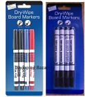 NEW 4 DRY WIPE WHITE BOARD WHITEBOARD MARKER PENS BULLET TIP NON-TOXIC MARKERS