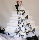 Black n Clear 3D Butterflies Weddings, Invitations, Cards, Craft, Scrapbooking