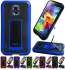 For Samsung Galaxy S5 ACTIVE G870 Premium Leather/TPU Kickstand Cover Case