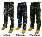 "NEW!!! MENS LADIES ""CAMO CAMOUFLAGE"" ARMY MILITARY COMBATS CARGO TROUSERS PANTS"