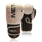 Met-X Authentic Rex Leather Gel Boxing Gloves Muay Thai Grappling Pad Punch Bag