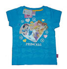 Disney Princess Girl Kids T-shirt Top Clothes SHORT SLEEVES Color blue and red