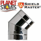 Stainless Steel Shieldmaster 45 Degree Elbow For Twin Wall Insulated Flue Pipe