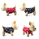 Brand New Cute Soft Warm Star Fleece Jacket Clothes Vest for Dog Puppy AH3009