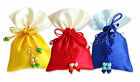 [3x]Korean Traditional Silk Lucky Bag Fortune Pocket Cosmetics Gift Bags Middle