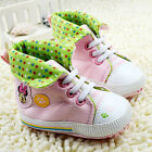 Toddler Baby girl pink star High-top Soft Sole shoe Crib Shoes Size 0-18Month/U5