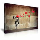BANKSY Butterfly Suicide Graffiti Modern Art Print Framed Canvas Box ~ More size