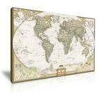 ATLANTIC WORLD MAP Vintage Wall Art Print Framed Canvas Box ~ More Size