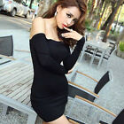 SEXY women Stretch Tunic Tight Fitted Clubwear Party Sexy Mini dress hot tops