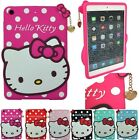 Cute Hello Kitty with Pendant Silicone Case Cover for iPad2/3/4,5,iPad Mini 1/2