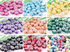 14Color 200pcs Mixed Acrylic Round Curly Round Ball Loose Spacer Beads 10mm