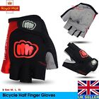 Bike Bicycle Cycling Half Finger Gloves Antiskid GEL Silicone Fingerless Mitts r