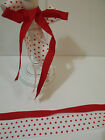 Red & White Polka Dots & Red Grosgrain DUO Set - Luxury Wire Edge Edged Ribbon
