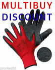 240 PAIRS LATEX RUBBER COATED NYLON SAFETY GRIP WORK GLOVES SCAFFOLDERS BUILDERS