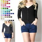 3/4  ELBOW SLEEVE BUTTON DOWN CARDIGAN SWEATER BLACK WHITE CHARCOAL NAVY CT-3249