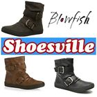 New! Blowfish Octave Womens fashion ankle boot black Whiskey/Tan and Tweed