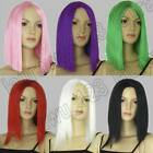 6 Colours 12/20in. Medium Hair Long 30/50cm Straight No-Bangs Cosplay Wig 90/14E