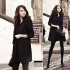 ZWN Women's Vintga Long Sleeve Loose Casual Trench Outerwear Coat Jacket