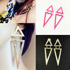 Chic 7Color Gothic Special Design Big Size Triangle Tone Women Earrings EAR-0207
