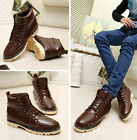 New England-style Winter Mens lace up High to help Casual shoes Ankle boots
