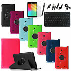 "For LG G Pad 7.0"" Rotating Stand Case Smart Cover Bluetooth Keyboard 7in1 Bundle"