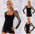 Sexy Women's Jumper Pullover Ladies Fitted leopard Dress Size 8/10  10/12