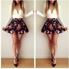 Graceful Sexy V-neck Floral Printed Party Prom Ball Skater Swing Bodycon Dress