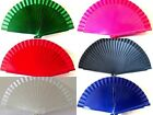 Childs Real Wood Spanish Flamenco Fan Small - Red Black White Blue Pink Green