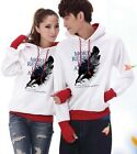 4 Colors Big feather Lovers Couples Hoodie Leisure Thick warm Women Men WL5090