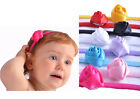 Head Band Baby Satin Small Rose Girl Flower Photo Prop Hair Accessory