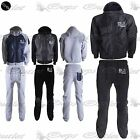 Mens Contrast Hooded Zip Up Nylon DLX Project Jacket Sweatpants Fleece Tracksuit