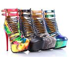 4 Color Ankle/Low-Calf Strappy Lace Up Adjustable Strap Buckles High Heels Shoes