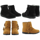 NEW LADIES CASUAL WINTER MILITARY ANKLE BOOTS FUR LINING ZIP UP WOMENS UK SIZES
