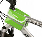 Cycling Bike Bicycle Frame Pannier Front PU Bag Phone Holder Case Double Pouch