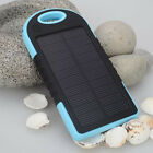 5000mAh Waterproof Solar Power Bank Battery Charger For Mobile iPhone 6 6 Plus 5