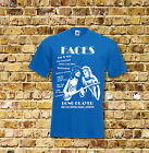 The Faces Long Player Gig T Shirt New Black or Blue