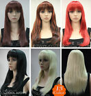 13 Colors Long Straight have bangs Women Female Lady Hair Wig Perruque #L.FANLAN