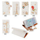 Cute Bling Diamond Rhinestone Magnetic PU Leather Flip Stand Wallet Case Cover
