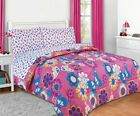 Girls Pink Blue Maya Butterfly Bed in a Bag Comforter Set with Sheets TWIN FULL