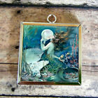 2x MERMAID fairy Snow Queen Glass Art Pendant Necklace