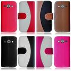 For Samsung Galaxy Avant SM-G386T Two Tone Leather Card Holder Cover