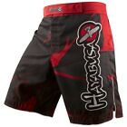 Hayabusa Metaru Performance Shorts (Black/Red) - bjj mma ufc