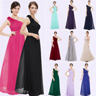 Women 's Elegant Bridesmaid One Shoulder Long Evening Party Formal Dress 08237