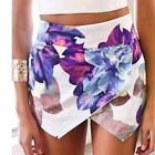 Fashion Top  Women's Ladies Celebrity Flowers Printing Shorts Hot Pants Festival