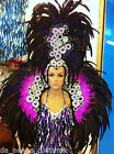 Da NeeNa C041 Vegas Cabaret Showgirl Dancer Burlesque Headress and Backpack