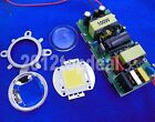 100W High Power LED + LED Driver + 44mm Lens + Reflector Bracket For DIY led kit