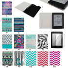 "Colorful Stripe PU Leather Flip Folio Case Cover For 6"" Amazon Kindle Paperwhite"