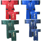 Wow!! Unisex Double-Face Reversible Kimono Robe/Gown Embroidery Dragon Sleepwear