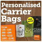 PLASTIC / POLYTHENE CARRIER BAGS • CUSTOM PRINTED WITH PERSONALISED MESSAGES
